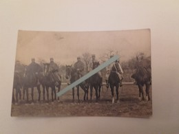 1915 Artllerie Artilleurs à Cheval 43 Eme Régiment D'artllerie De Campagne Tranchée Poilus Ww1 1914 1918 14-18 2 Cartes - Guerra, Militari