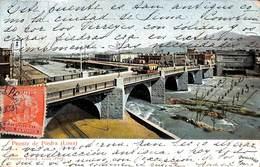 Pérou Peru - Puente De Piedra Lima (animation Tram, Eduardo Polack 1903) - Pérou