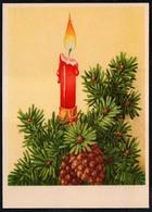 C2146 - TOP Glückwunschkarte - Weihnachten Kerze Tannenzweig - Reichenbach - DDR Grafik - Non Classificati
