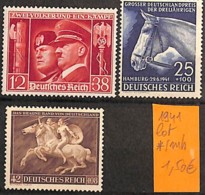 D - [825595]Allemagne 1941 - Lot */mh, Célébrité, Animaux, Chevaux - Famous People