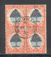Bloc De 4 Type Oranger 6p Orange Et Vert Oblitéré 1931  Bilingue - Usati