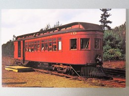 Carte Postale : Antique Commuter Car, Wolfeborough Railroad, Wolfeboro, New Hampshire - Trains