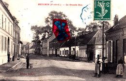 HEUCHIN (P-de-C) - La Grande Rue - Superbe Carte Circulée En 1912 - Frankrijk