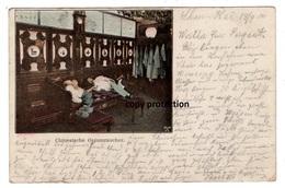 Chinesische Opiumraucher, Mit Stempel S. B. Ostasienexpedition, Marine, Alte Postkarte 1900 - Asie
