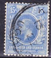 British East Africa And Uganda 1921 Wmk Crown Script CA King George V. Mi 65, SG 70, Used O, I Sell My Collection! - Kenya, Uganda & Tanganyika