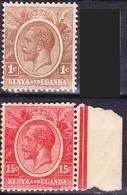 Kenya And Uganda 1922 Definitives Mi 1, 5, SG 76, 82 MNH **, I Sell My Collection! - Kenya & Uganda