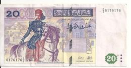 TUNISIE 20 DINARS 1992 VF P 88 - Tunisie