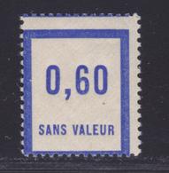 FRANCE FICTIF N°  F47 ** MNH Timbre Neuf Sans Charnière, Variété Piquage Décalé, TB (d120) - Ficticios