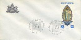 SAN MARINO - FDC  1977 - CENTENARIO PRIMI FRANCOBOLLI - FDC