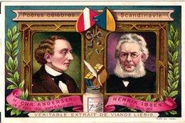 0567   Liebig 6 Cards -C1898 Famous Poets-Poètes Célèbres -Andersen Ibsen-voltaire-victor Hugo-Goethe-Schiller-Byron- - Liebig