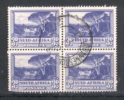 Bloc De 4 Timbres Groote Schuur 3P Outremer  Bilingues 113A Et 114A - Usati