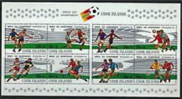 90517)  SAN MARINO-Cook Islands SC B96 Espana'82 Souv.Sheet-SoccerChampionship - 23 Gennaio 2007 -MNH** - Cook
