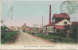 D77 - JOUY LE CHATEL - RUE DE LA RÂPERIE - Charrette, Quelques Personnes - Carte Colorisée - Autres Communes