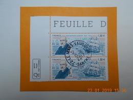 FRANCE 2017 YTN° 5140 JEAN BAPTISTE CHARCOT (1867-1936)  Timbre Neuf Oblitéré Cachet Rond  Coin De Feuille   (par2) - Oblitérés