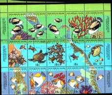 90520) COCOS - KELLING ISLAND-VITA MARINA-USATA-SERIE COMPLETA - Cook