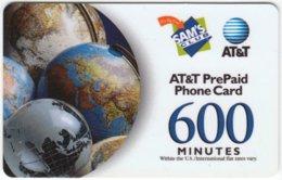 USA C-496 Prepaid AT&T - Map, Globe - Used - United States