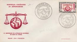 Nouméa 1963 - FDC Déclaration Droits De L'homme - FDC