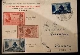 FIERA DI BARI 1951 - Francobolli (rappresentazioni)