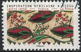 France 2019 Oblitéré Used Tissus Motifs Nature Inspiration Africaine Timbre 10 - France