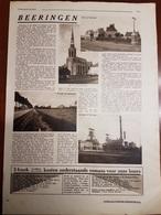 Beringen Beeringen Koolmijn Mijnen Steenkoolmijn Charbonnage : 1 Blz Uit Oud Tijdschrift: Zondagsvriend 1933 - Beringen