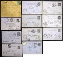 GANZSACHEN 1883-89, 11 Gebrauchte Belege Nach Deutschland, Unterschiedliche Erhaltung - Ganzsachen
