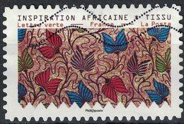 France 2019 Oblitéré Used Tissus Motifs Nature Inspiration Africaine Timbre 2 - France