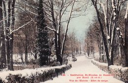 /  Institution Saint Nicolas De Buzenval Par Rueil - Vue De L ' Entrée, Effet De Neige - Rueil Malmaison