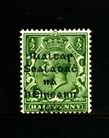 IRELAND/EIRE - 1922  1/2 D.  OVERPRINTED DOLLARD  MINT  SG 1 - 1922 Governo Provvisorio