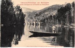 ENTRAYGUES - La Pêche à La Ligne Sur La Truyère Au Vieux Pont - Très Bon état - Autres Communes