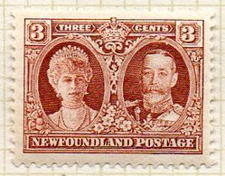 TERRE NEUVE - (Colonie Britannique) - 1931 - N° 158 - 3 C. Brun - (Reine MARY Et George V) - Other