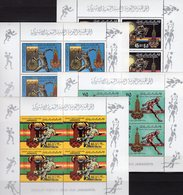 Moskau Olympiade 1980 LAR 767/770A Kleinbogen ** 33€ Ball Fußballer M/s Soccer Blocs Ss Sheetlets Bf Olympics Libye - Libye