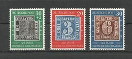 GERMANY DEUTSCHLAND 100 JAHRE DEUTSCHE BRIEFMARKEN 1949. 100th ANNIVERSARY OF THE GERMAN STAMP UNUSED - [7] West-Duitsland