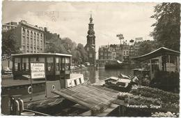 W649 Amsterdam - Singel - Barche Boats Bateaux / Viaggiata 1963 - Amsterdam