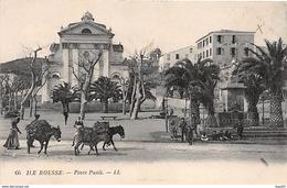 ILE ROUSSE - Place Paoli - Très Bon état - Francia
