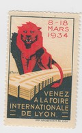 FOIRE DE  LYON 1934 - Commemorative Labels