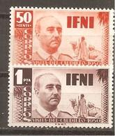 Ifni - Edifil 73-74 - Yvert 54-55 (MH/*) - Ifni