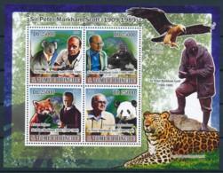 [400659]Sao Tomé-et-Principe 2009 - Sir Peter Markham Scott, Koala, Singe, Tigres - Famous People