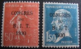 DF50500/81 - 1930 - CONGRES DU B.I.T. N°264 à 265 NEUFS** - Cote : 55,00 € - France