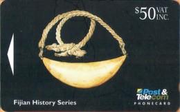 Fiji - GPT, FIJ-029, CN 06FJF, Whale Tooth, Fijian Artifacts, 50$, 2000ex, 1994, Used - Fiji
