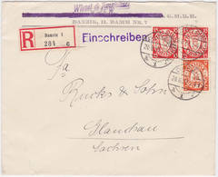 Danzig MiNr. 193 U. 214 (2x) Auf R-Bf. (R951) - Danzig