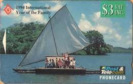Fiji - GPT, FIJ-051, CN BCFJB, Father Christmas In Canoe,Year Of The Family, 3$, 5,260ex, 1994, Used - Fiji