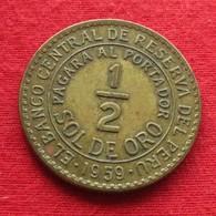 Peru 1/2 Sol 1959 KM# 220.5  Perou - Perú
