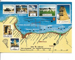 G5 LES PLAGES DU DEBARQUEMENT - De Cherbourg à Cabourg  / CPM Voyagée 1993 Multivues - 7 - Bon Etat - Weltkrieg 1939-45