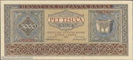 TWN - CROATIA 13a - 5000 5.000 Kuna 1.9.1943 Prefix C AU/UNC - Croazia