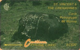 St. Vincent & The Grenadines - GPT, STV-8C, 8CSVC, Carib Petroglyph - Mt Wynne, 20$, 10,000ex, 1994, Used - St. Vincent & The Grenadines