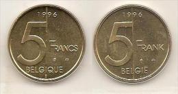 5 Frank 1996 Frans+vlaams * Uit Muntenset * FDC - 03. 5 Francs