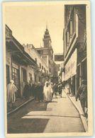MAROC MAROKKO MOROCCO MARRUECOS   CPA TANGER - RUE DES SIAGHINS ET L' EGLISE CATHOLIQUE - Marrakech