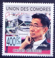 Comoros 2009 MNH, Samuel C C Ting, Nobel Prize For Physics (C3) - Nobel Prize Laureates