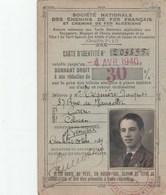CARTE D IDENTITE SNCF 1939 CAEN REDUCTION 30% - Titres De Transport
