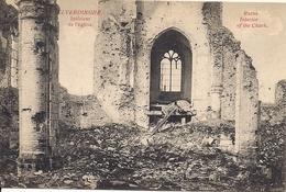 ELVERDINGE ELVERDINGHE RUINES INTERIEUR DE L'EGLISE - Weltkrieg 1914-18